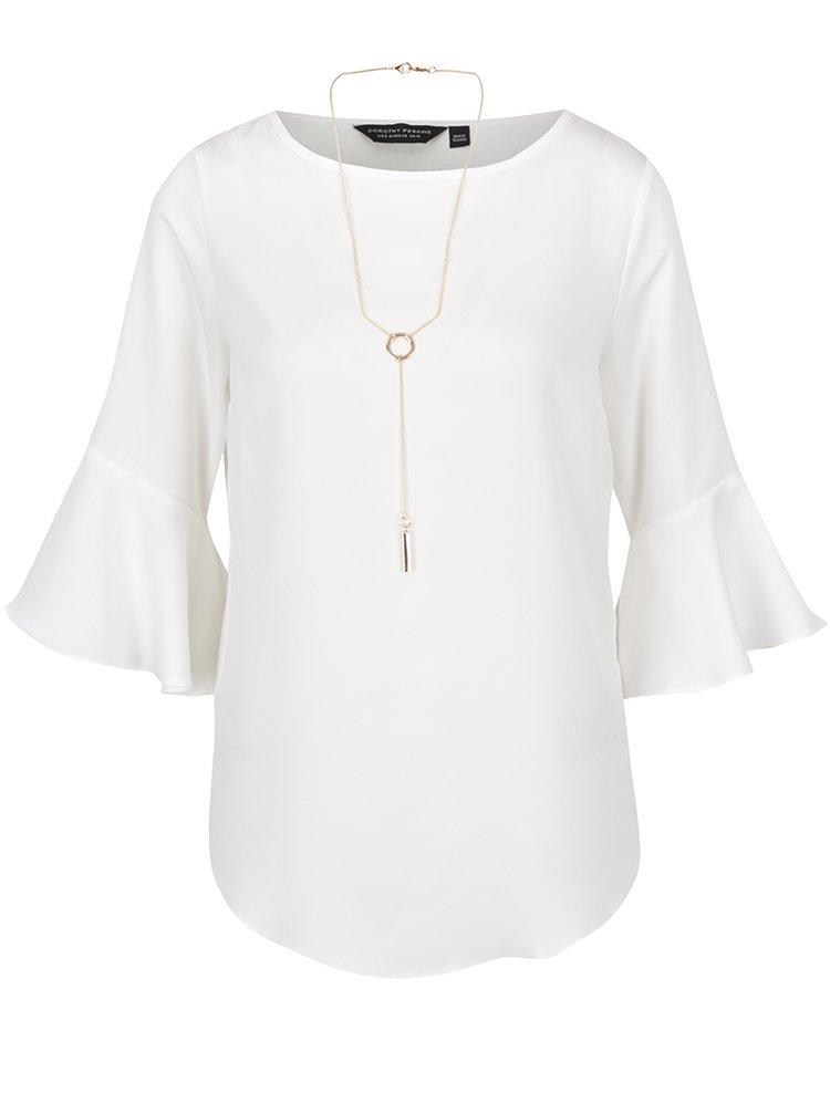 Bluză crem Dorothy Perkins cu accesoriu auriu