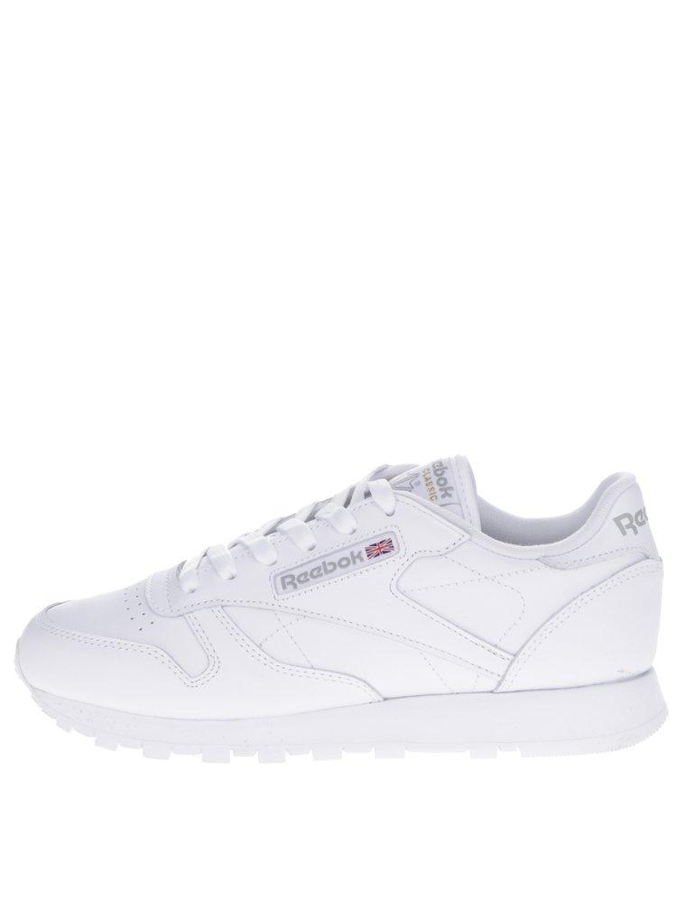 Bílé dámské kožené tenisky Reebok Classic