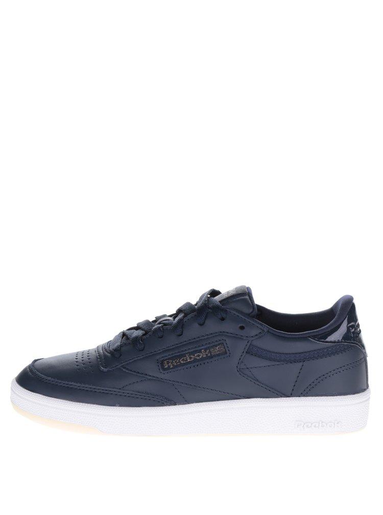 Pantofi sport albaștri din piele Reebok pentru femei