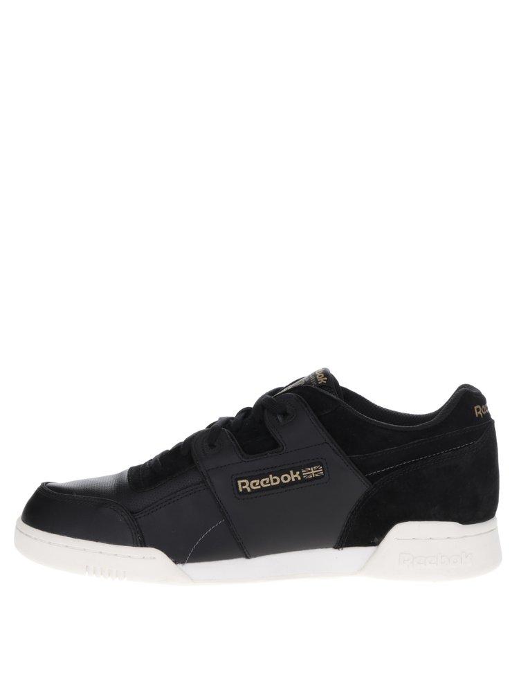 Pantofi sport negri cu detalii piele întoarsă Reebok pentru bărbați