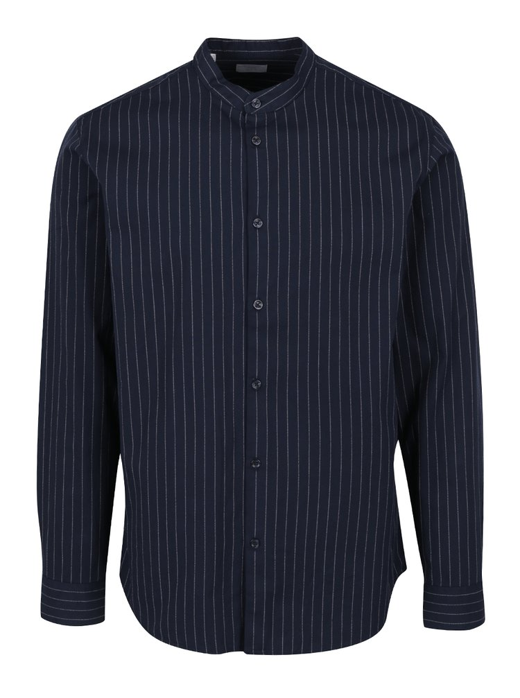 Tmavě modrá pruhovaná košile Selected Homme Twopin