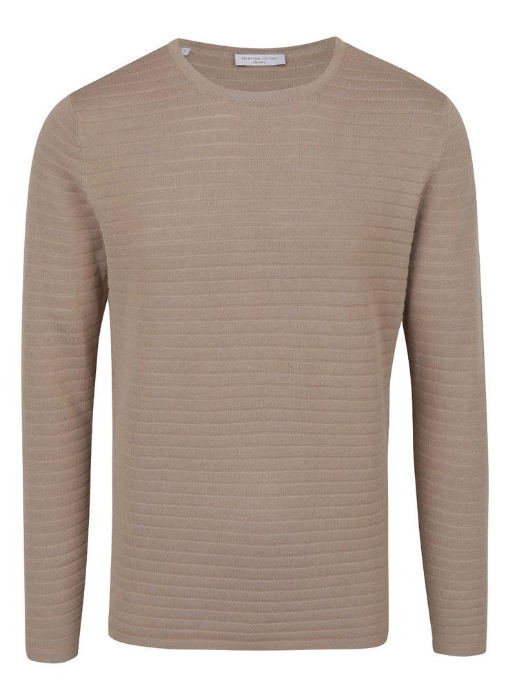 Béžový žebrovaný svetr Selected Homme Jinx