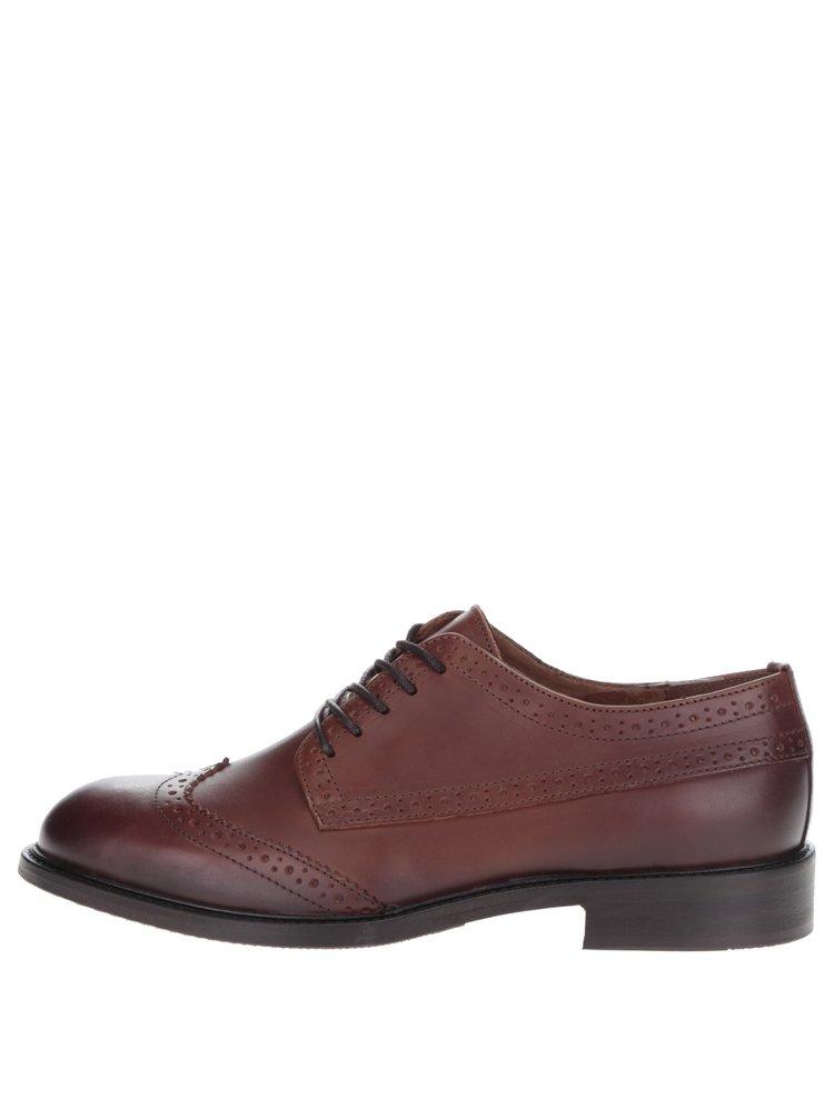 Pantofi Oxford maro  Selected Homme Baxter din piele