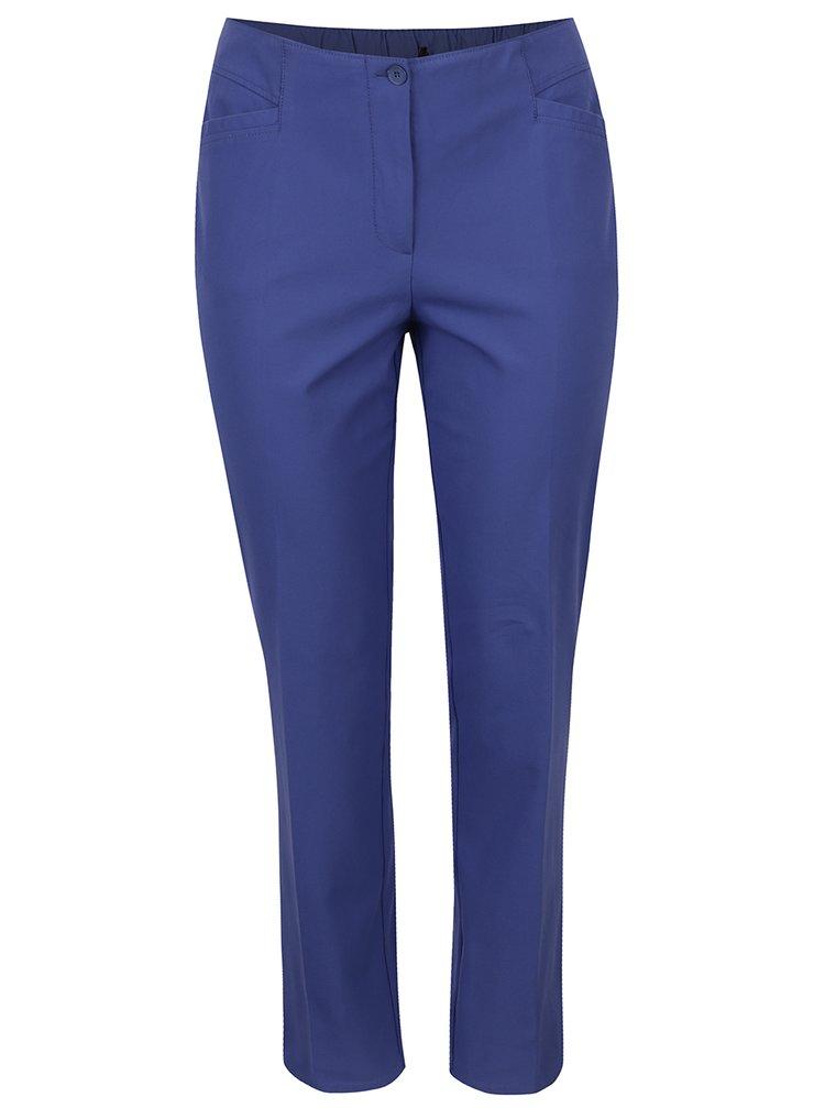 Modré slim kalhoty s pružným pasem Ulla Popken