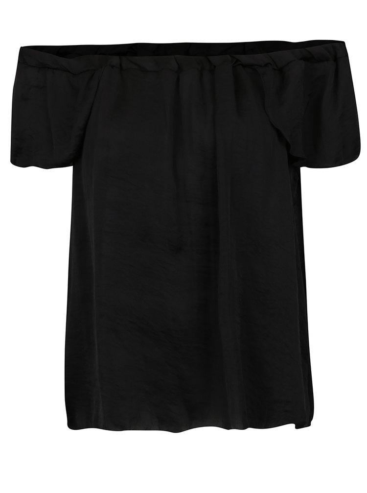 Bluză neagră Haily's Diana decolteu pe umeri