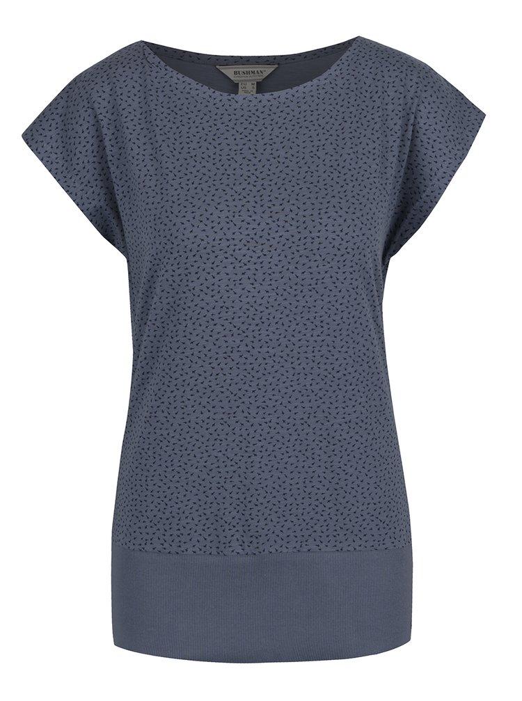 Modré dámské tričko s potiskem BUSHMAN Ida