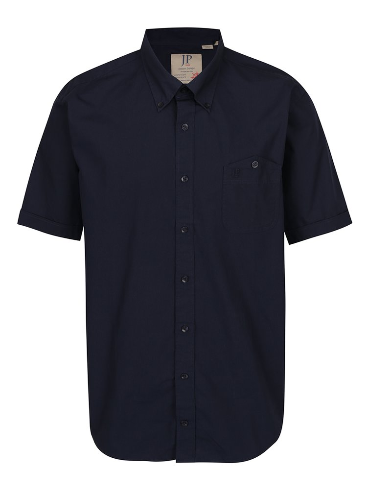 Tmavě modrá košile s krátkým rukávem JP 1880