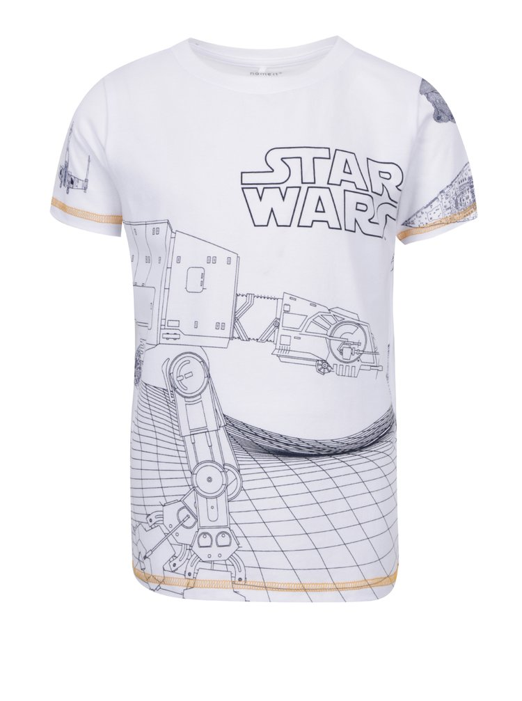 Tricou alb cu print name it Star Wars
