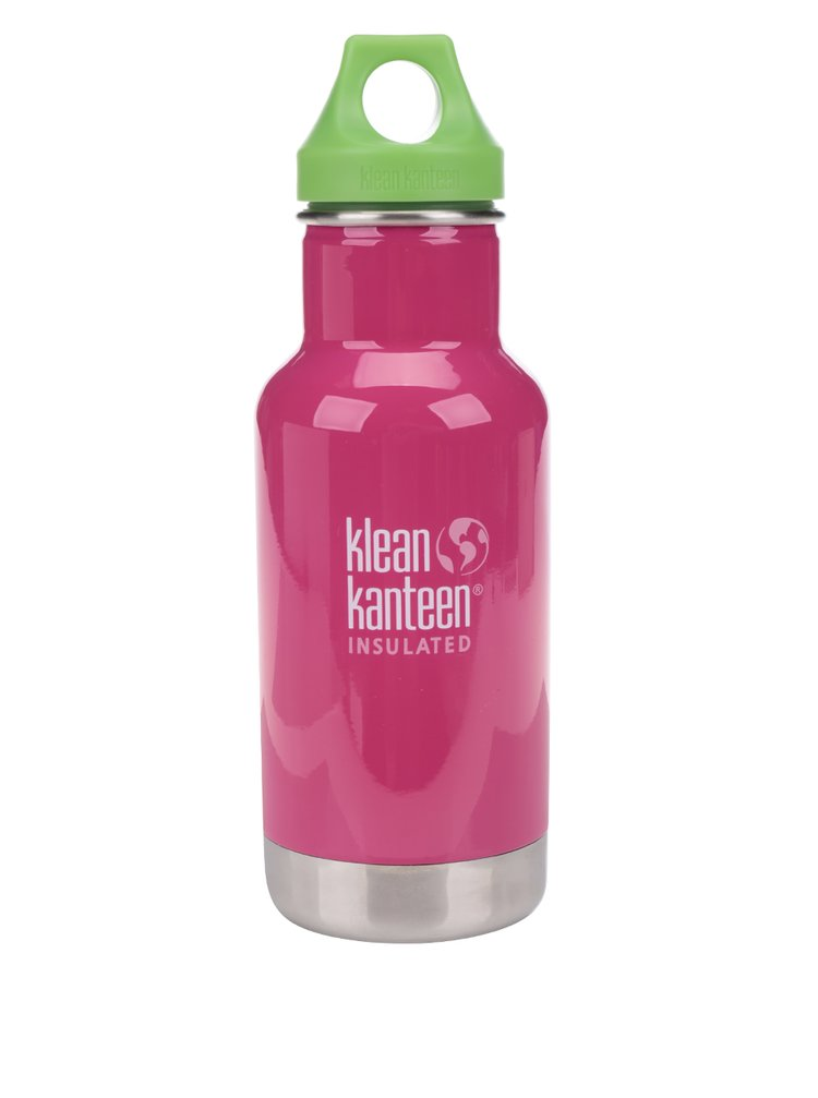 Sticlă termos roz & verde  Klean Kanteen Kid Classic Sport 355 ml