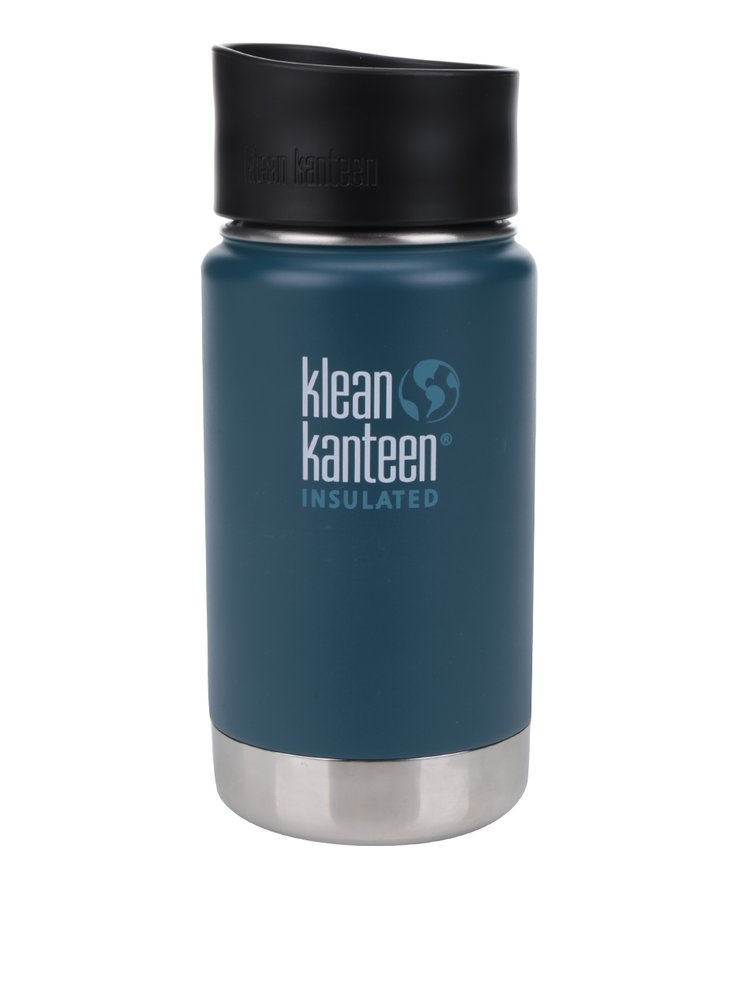 Pahar termos albastru & argintiu Klean Kanteen Insulated Wide 355 ml