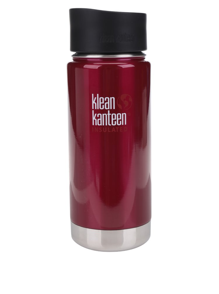 Cană termos burgundy Klean Kanteen Insulated Wide 473 ml