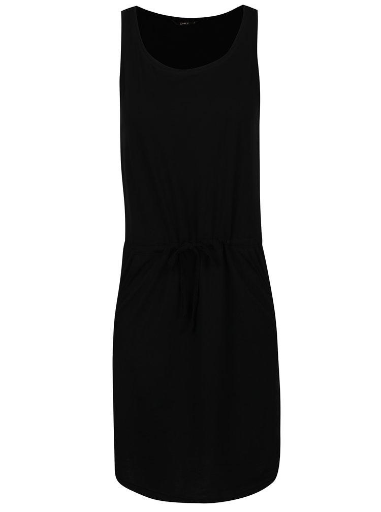Rochie neagră scurtă cu șnur ONLY May