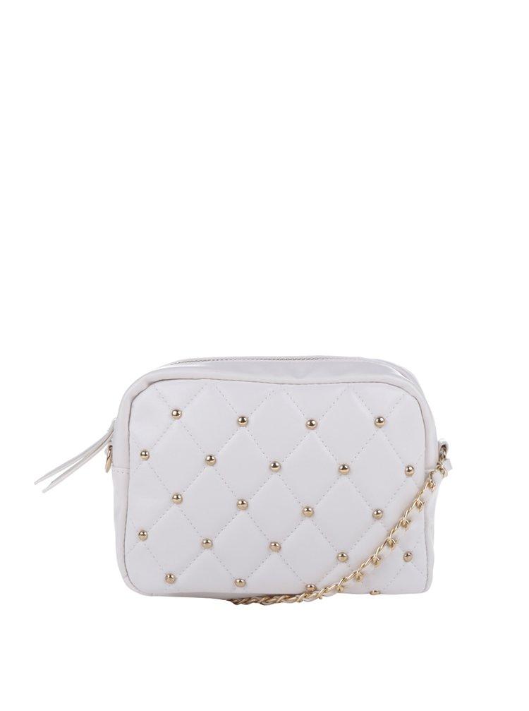 Bílá crossbody kabelka s detaily ve zlaté barvě TALLY WEiJL