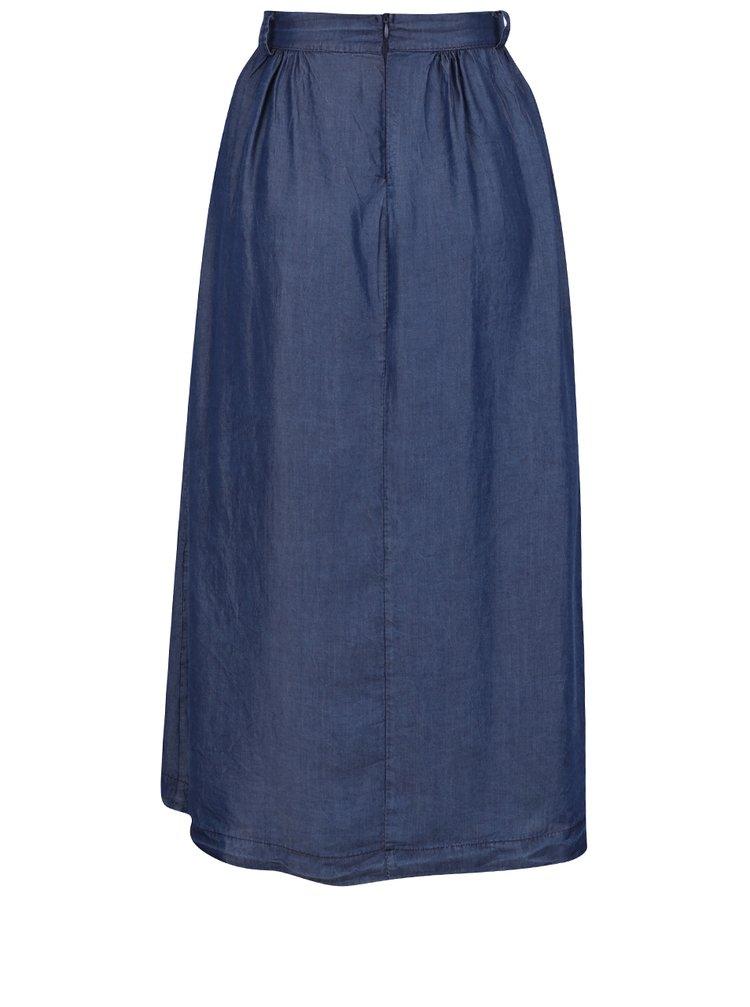 0f3bb11a834a ... Tmavě modrá džínová midi sukně ZOOT