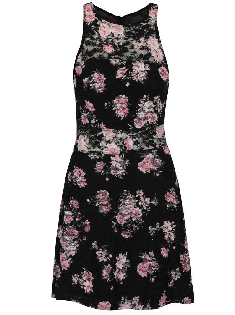 Rochie dantelă neagră TALLY WEiJL print floral