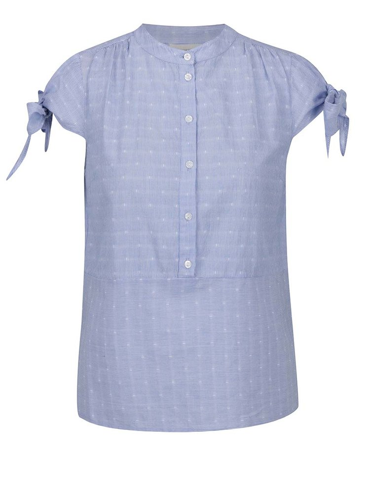 Bluză bleu VERO MODA Dot imprimeu cu dungi