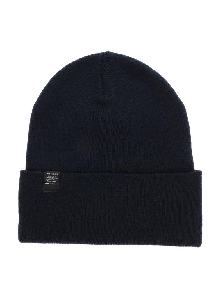 Tmavě modrá čepice Jack & Jones Jack Beanie