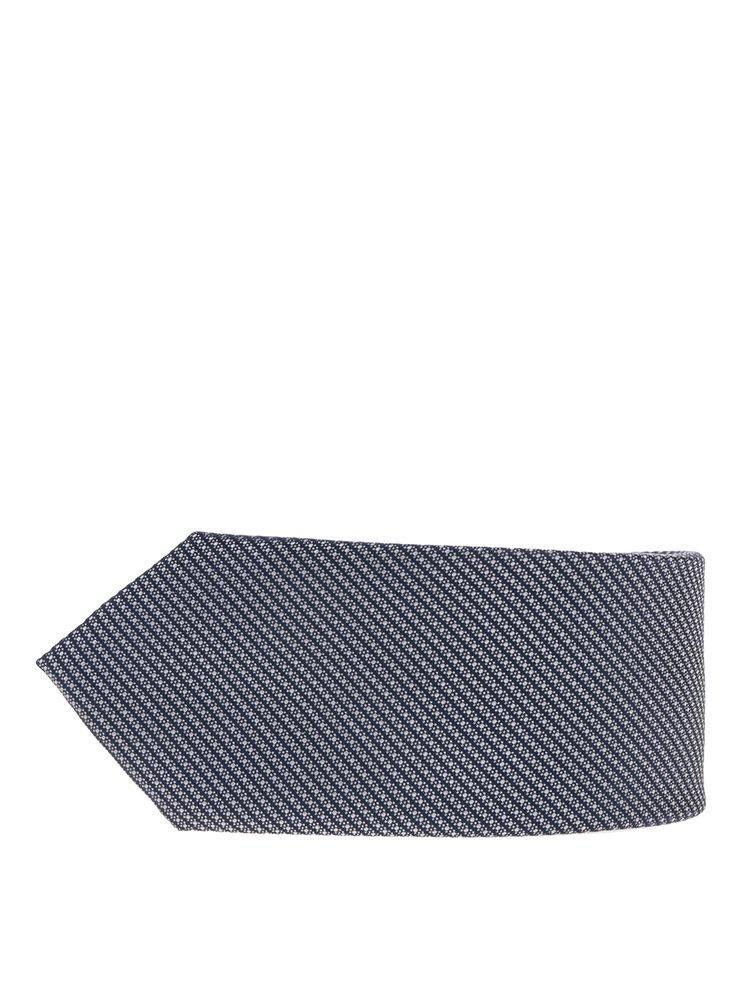 Cravata albastra din matase cu model Jack & Jones Premium Salvador