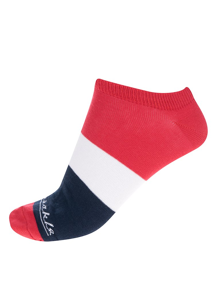 Modro-červené unisex kotníkové ponožky Fusakle Jachtár