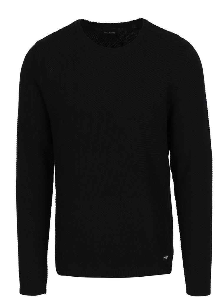 Černý svetr ONLY & SONS Dan