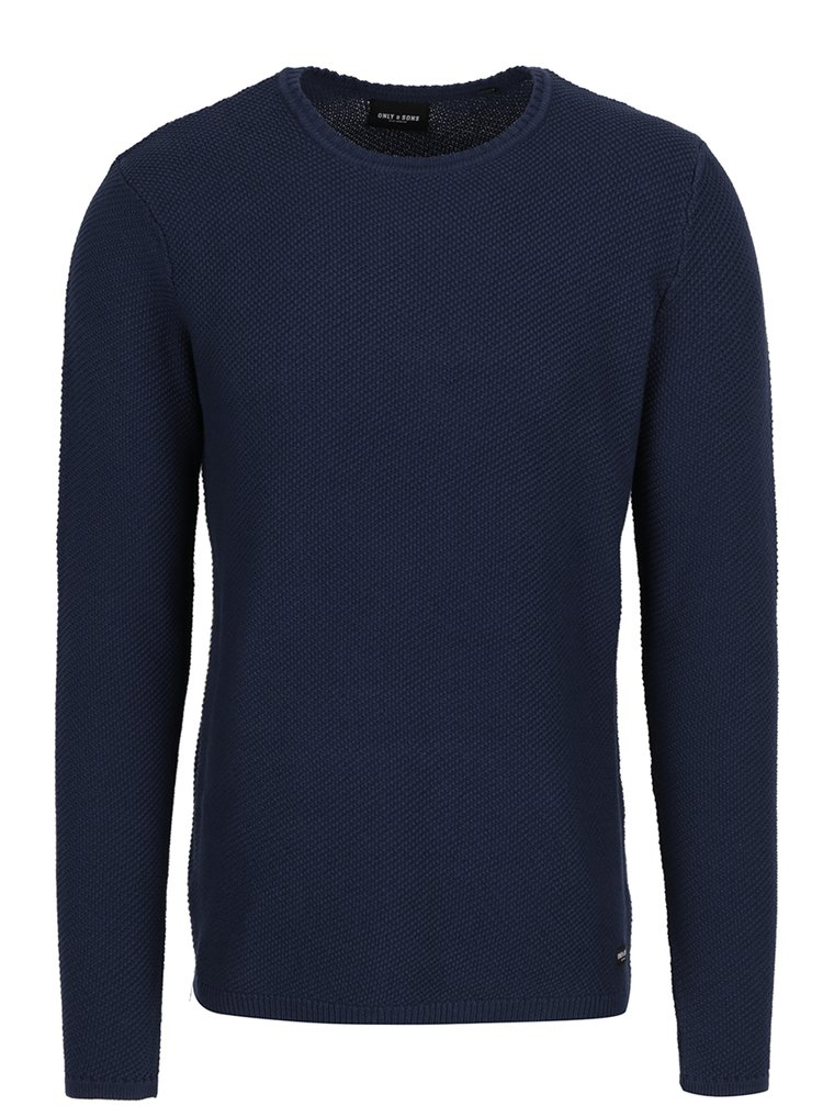 Tmavě modrý svetr ONLY & SONS Dan