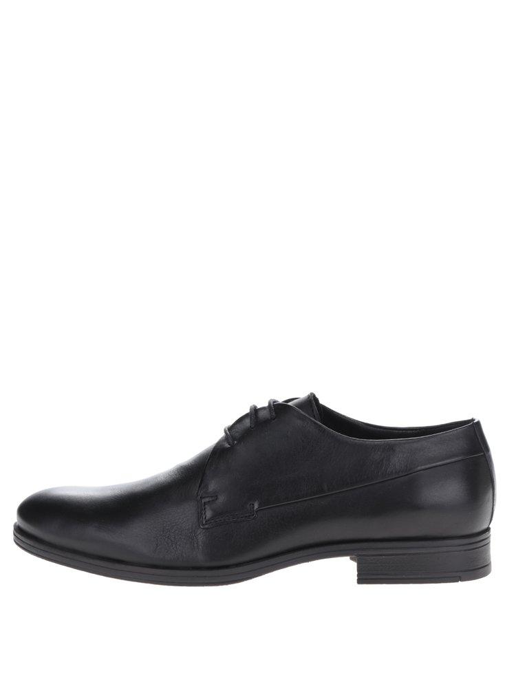 Pantofi negri din piele naturală Jack & Jones Sammy