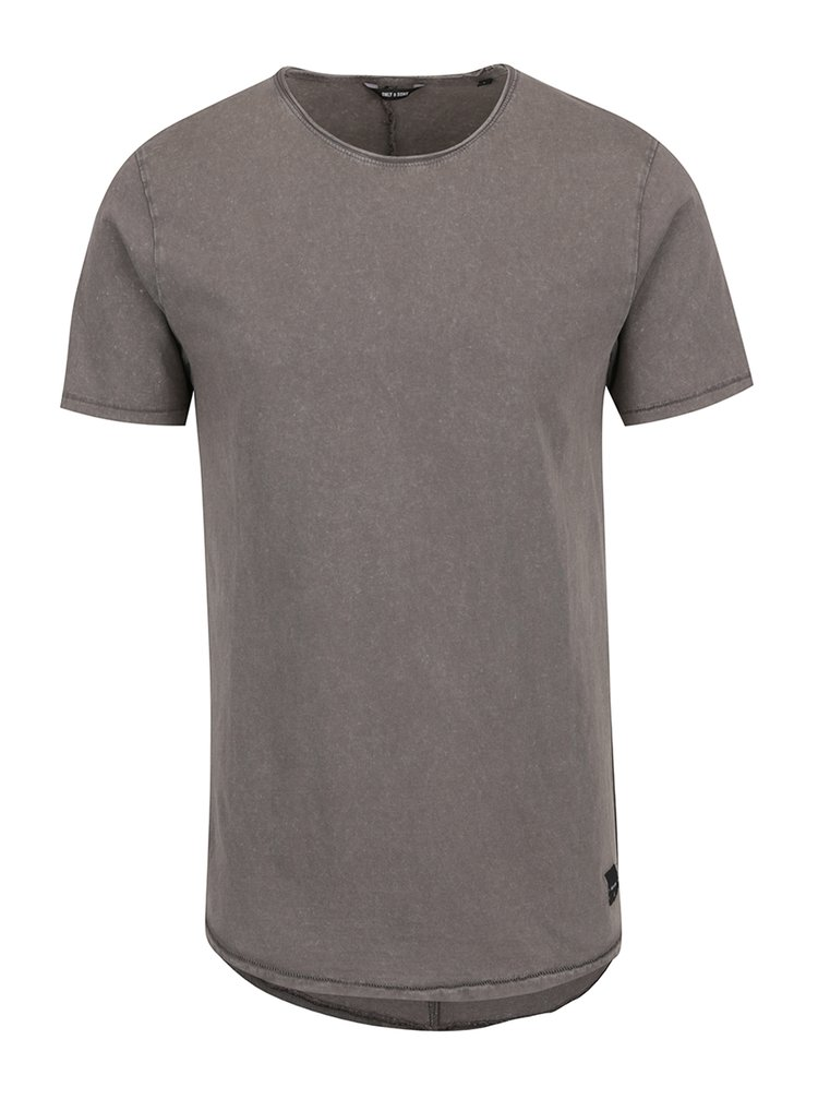Tricou gri cu aspect decolorat ONLY & SONS Pauli