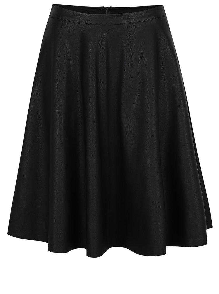 Černá koženková sukně ONLY Celina