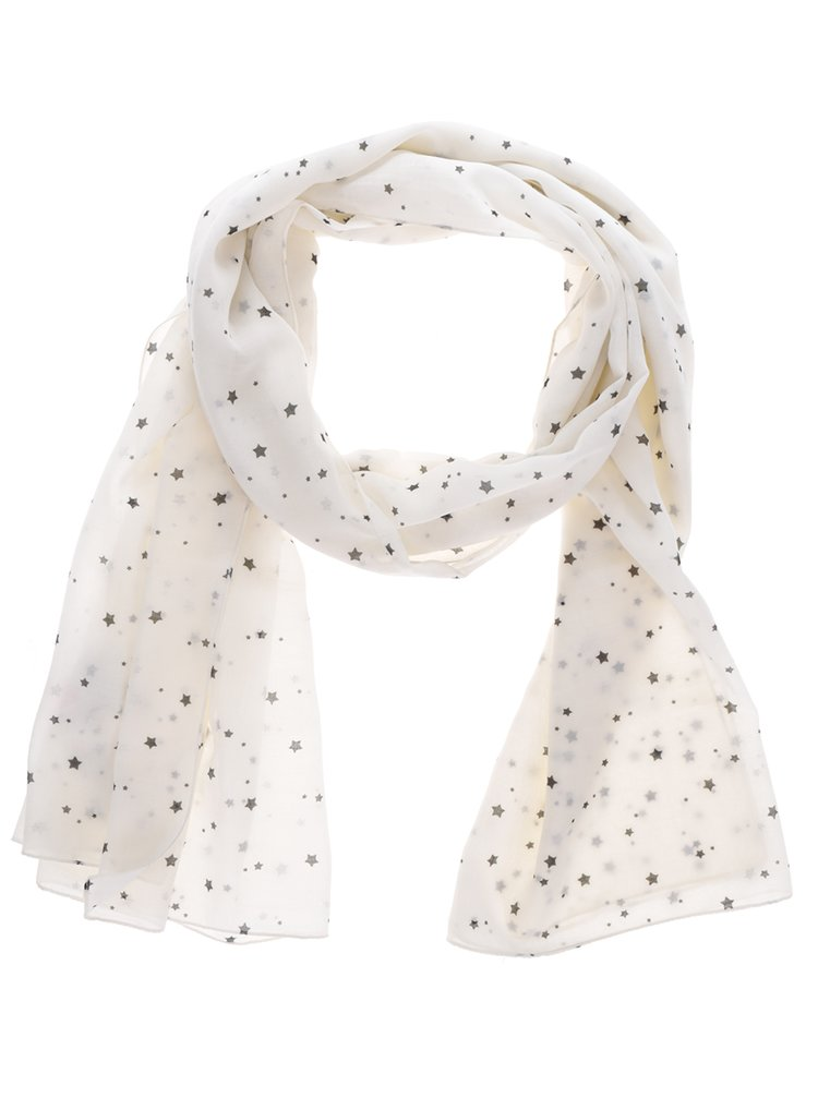 Krémový vzorovaný šátek ONLY Beth