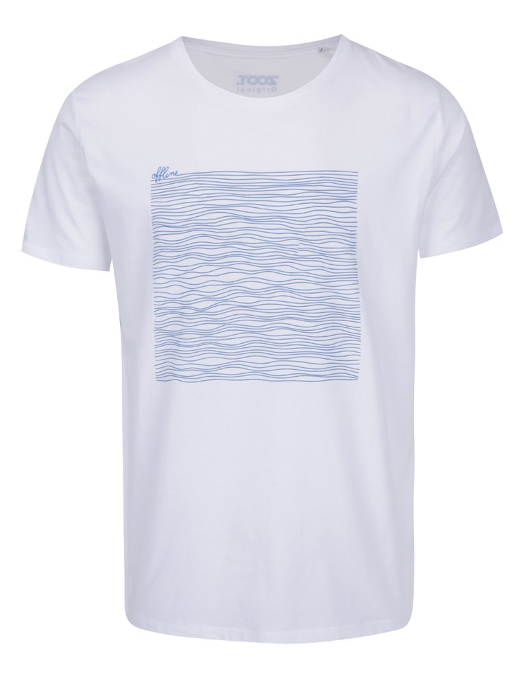 Bílé pánské tričko ZOOT Originál Offline lines