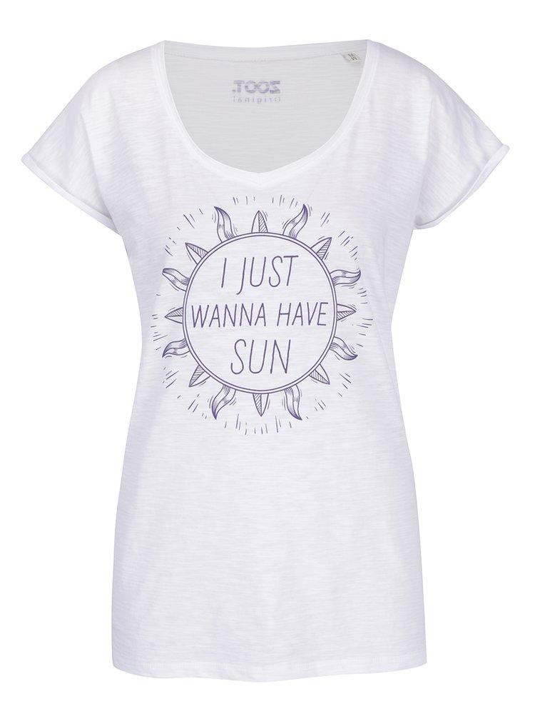 Bílé dámské tričko ZOOT Originál I just wanna have sun