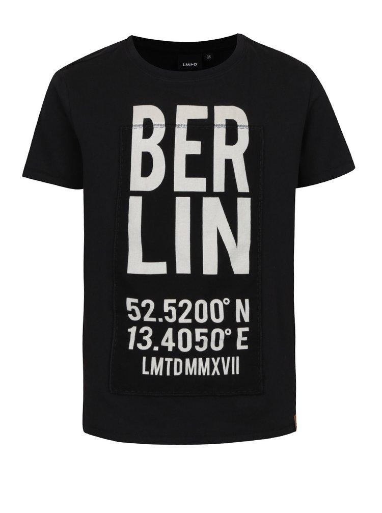Tricou negru cu print  LIMITED by name it Rux