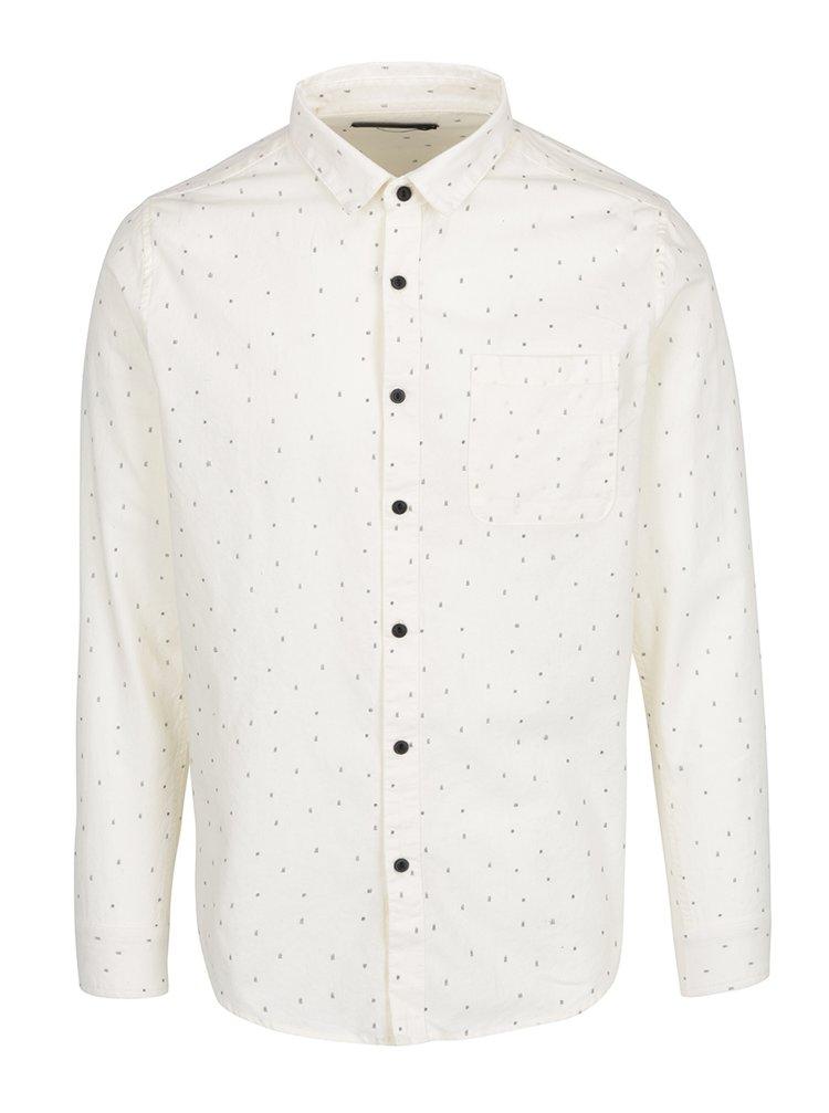 Krémová vzorovaná slim fit košile ONLY & SONS Tom