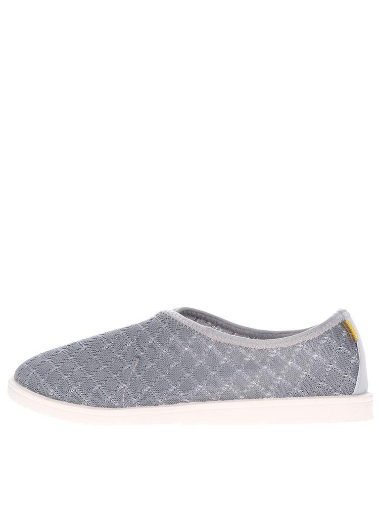 Šedé pánské perforované loafers Oldcom Infinity