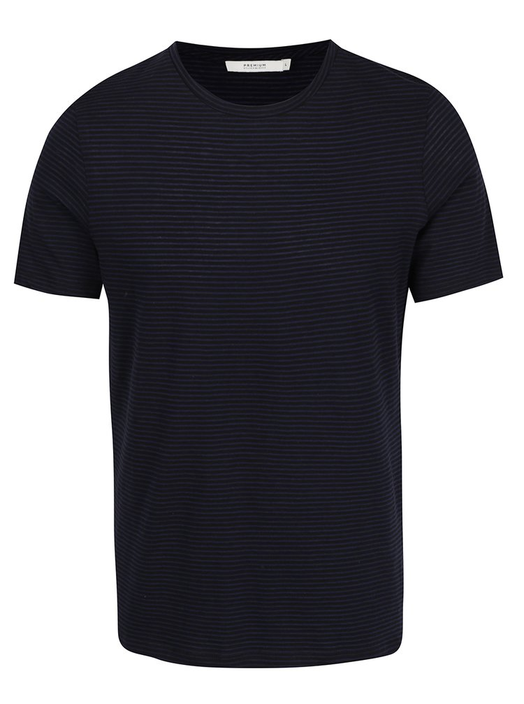 Modro-černé pruhované tričko Jack & Jones Premium Addy