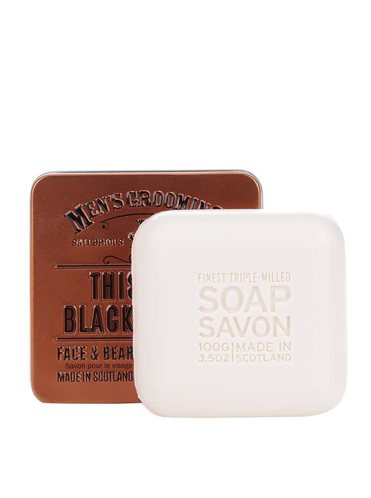 Dárkově balené mýdlo v plechové dóze Black Pepper The Scottish Fine Soaps Company