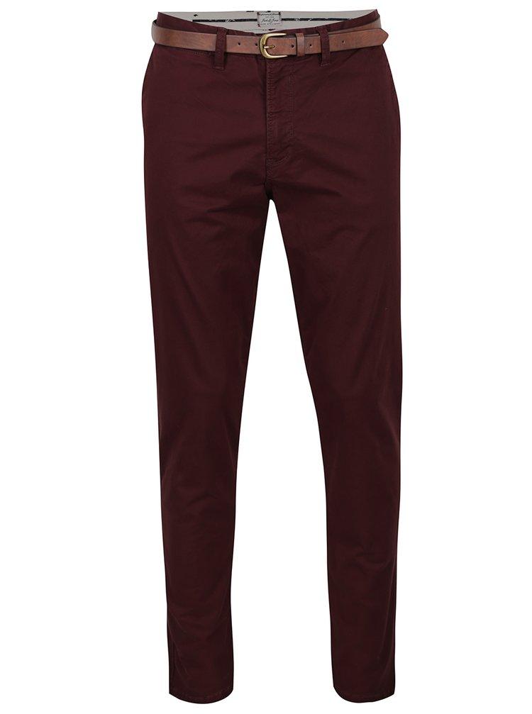 Pantaloni chino roșu burgundy Jack & Jones Cody