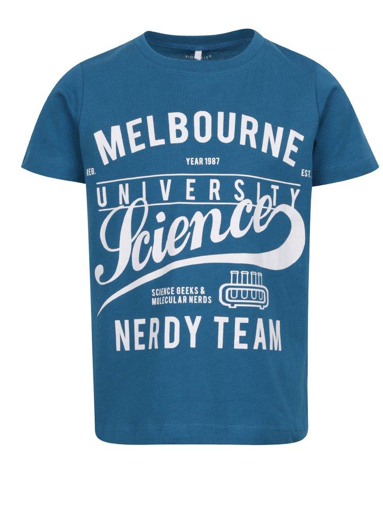 Tricou albastru pentru băieți Name it Victorian