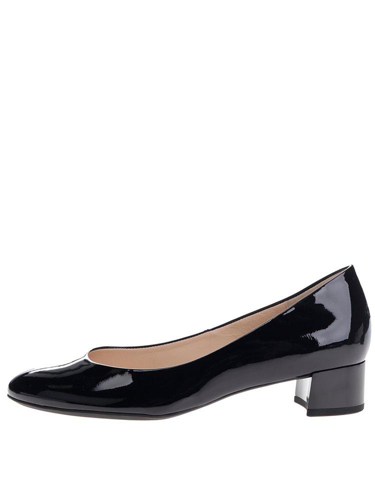 Pantofi bleumarin din piele lăcuită  Högl
