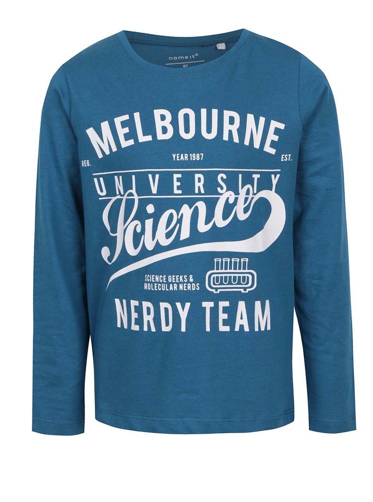 Modré klučičí triko s dlouhým rukávem Name it Victorian