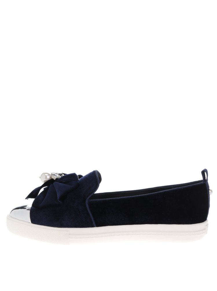 Pantofi loafer bleumarin cu mărgele Miss KG Lottie