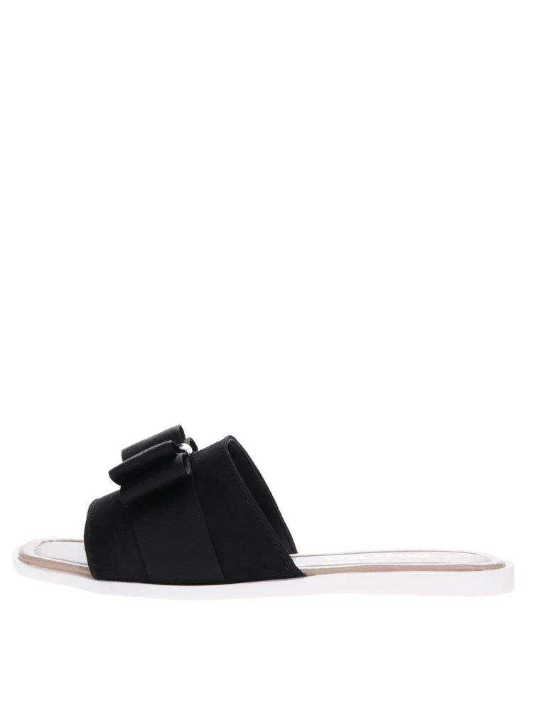 Černé pantofle s mašlí Miss KG Ribbon