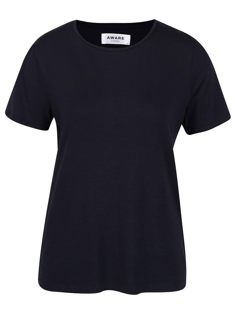Tmavě modré basic tričko VERO MODA AWARE Ava