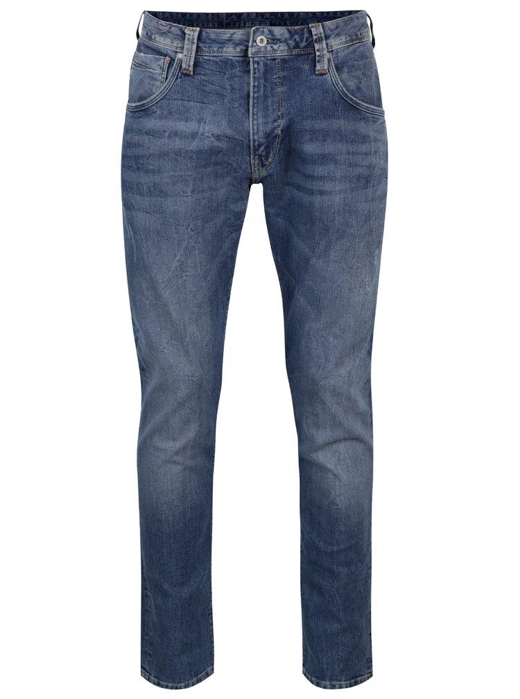 Modré pánské džíny s vyšisovaným efektem Pepe Jeans Zinc
