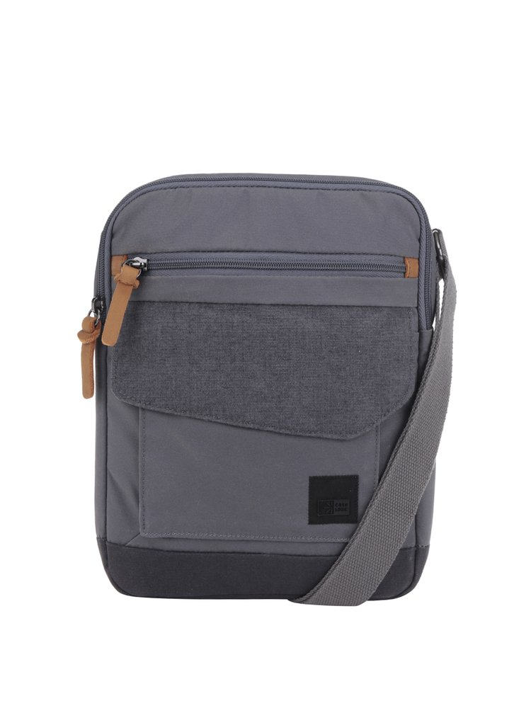 Sivá pánska crossbody taška na tablet Case Logic LoDo