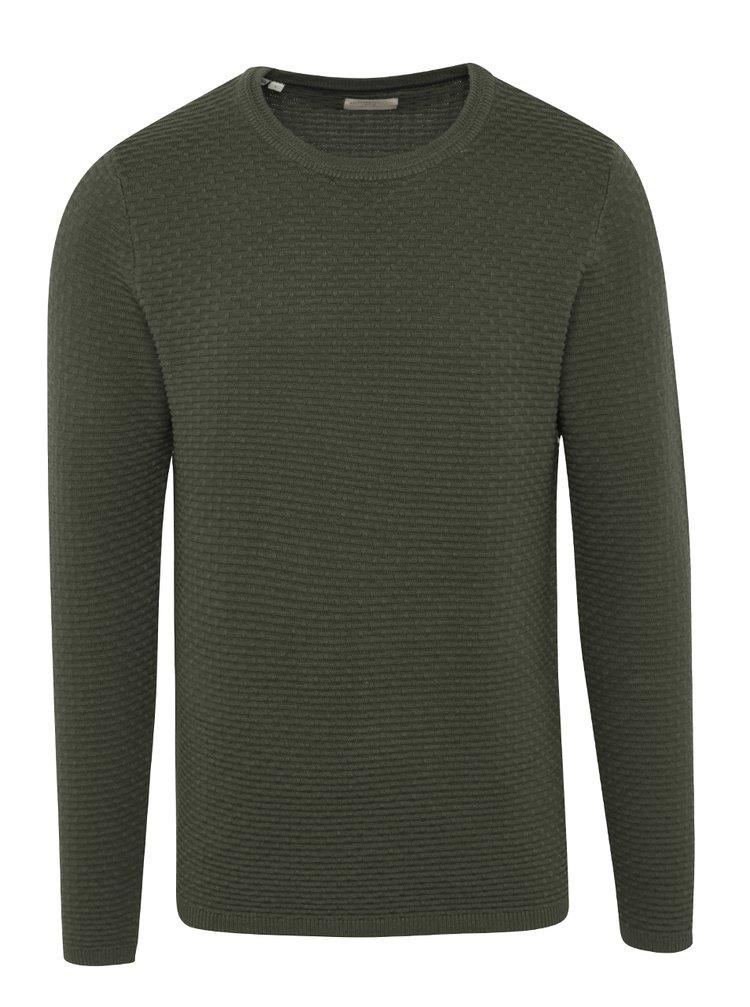 Tmavě zelený svetr Selected Homme New Dean