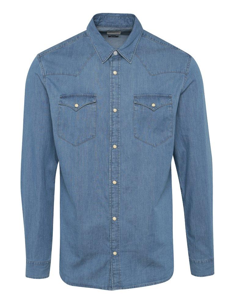 Světle modrá džínová slim fit košile Selected Homme One Ned