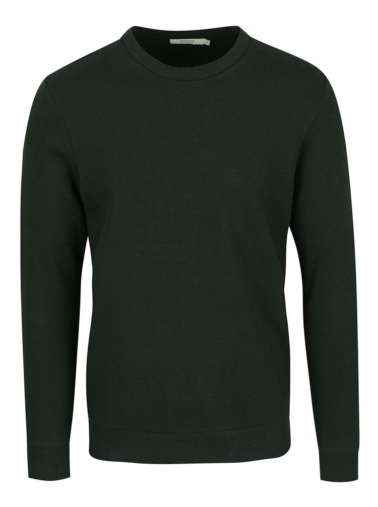 Bluză verde închis Jack & Jones Premium Simon