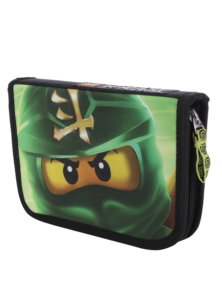 Černo-zelený klučičí penál LEGO Wear Ninjago Lloyd