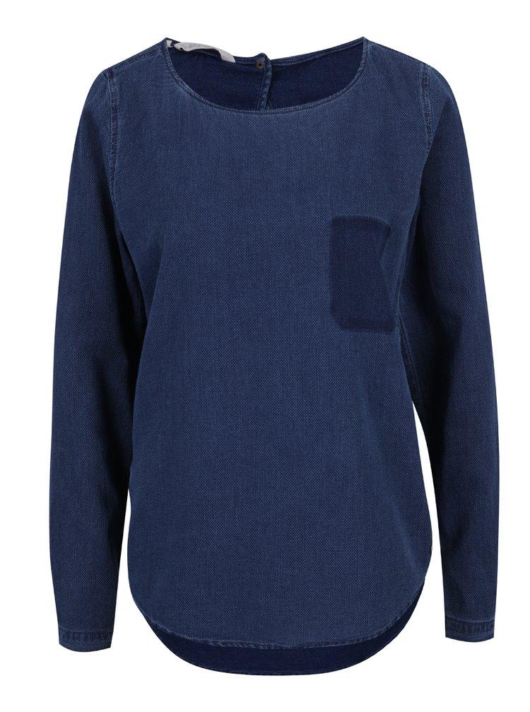 Bluză albastră din denim pentru femei Garcia Jeans
